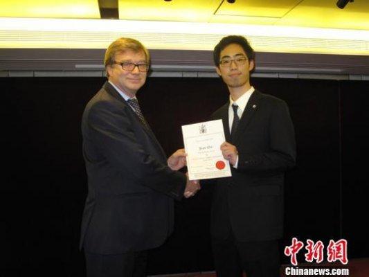 大学生获国际建筑大赛主席奖 系首个华人获得者