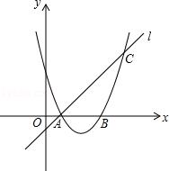 ��ͼ����֪������y=ax2+bx+3��x�ύ��A��B���㣬���A��ֱ��l��