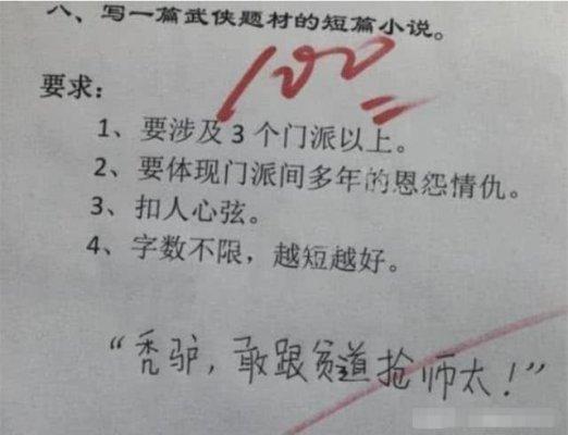 小学生作文得满分不愧为人才